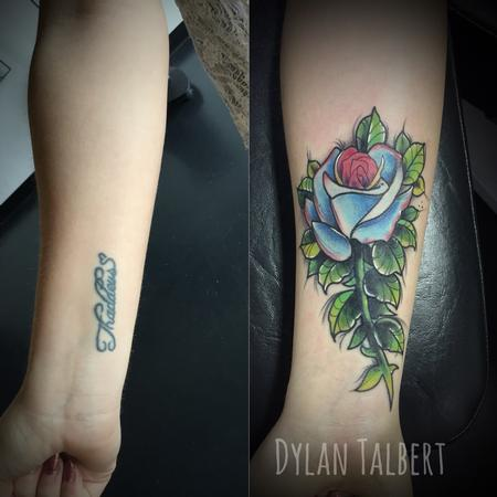 Tattoos - Rose cover up - 130404
