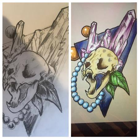 Tattoos - Wannado bat skull $200 - 125168