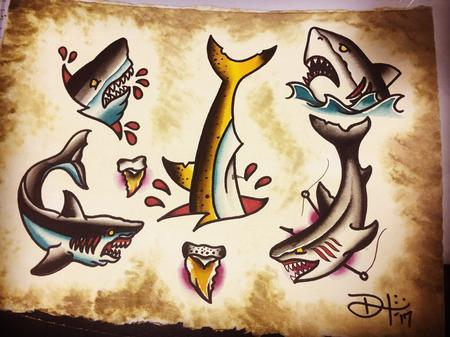 Tattoos - Shark flash - 127756