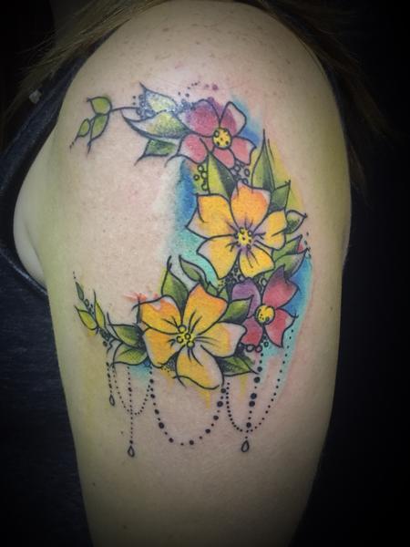 Tattoos - Watercolor flowers - 127410