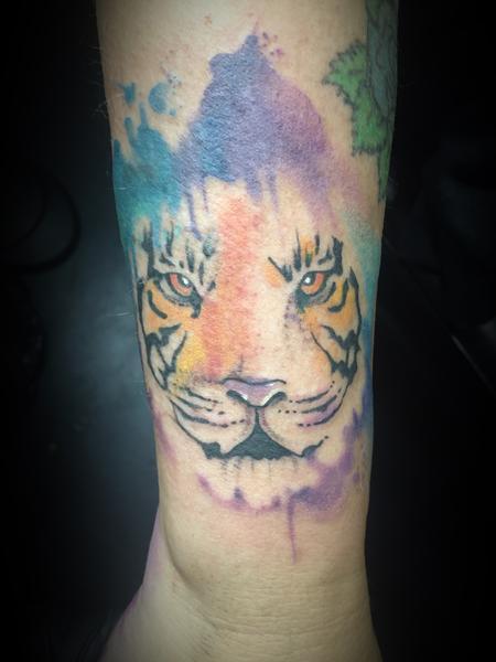 Tattoos - Watercolor tiger - 127403