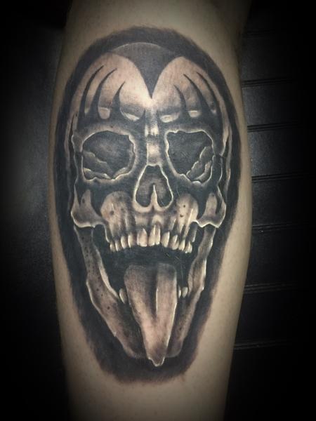 Tattoos - Gene Simmons Skull - 127752