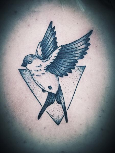 Black work swallow Design Thumbnail