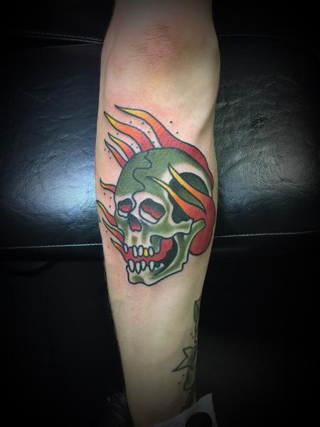 Tattoos - Traditional skull - 131299