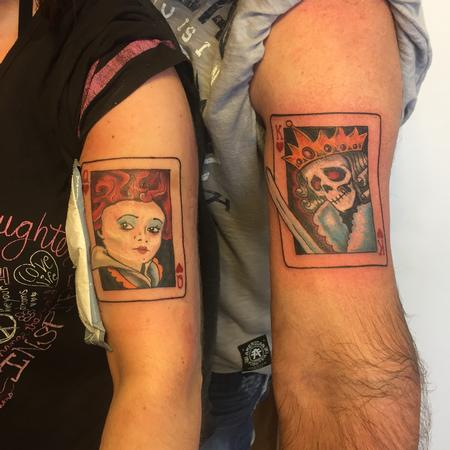 Tattoos - King and queen cards - 126456