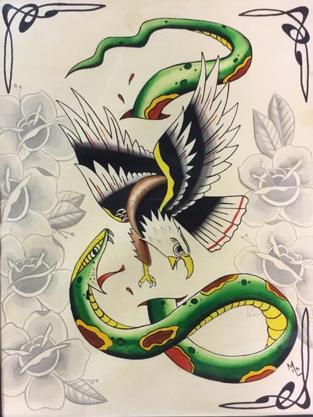 Tattoos - Traditional snake  - 125835