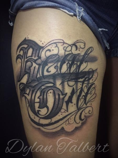 Tattoos - Custom lettering - 128972