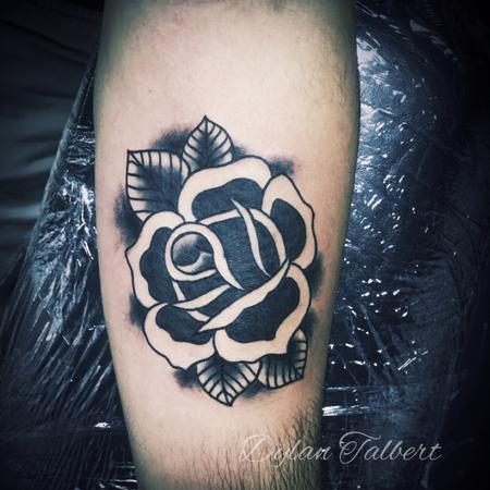 Tattoos - Black rose - 129092