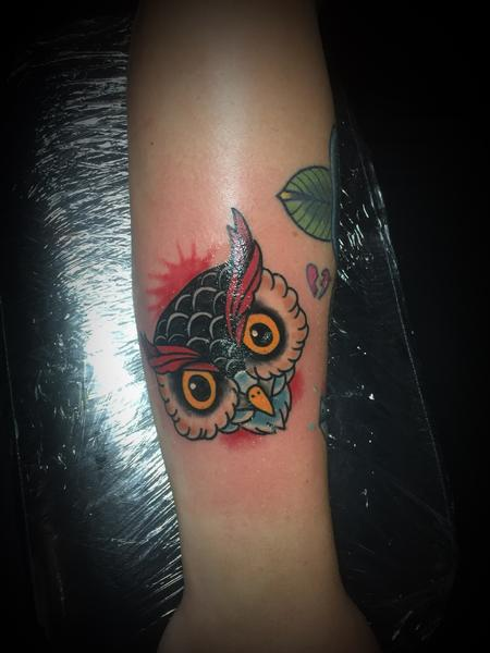 Tattoos - Owl head - 129223