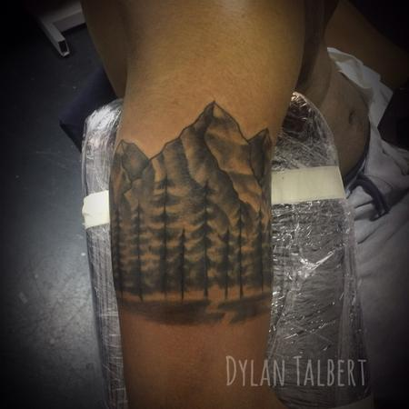 Tattoos - Mountain scene - 129707