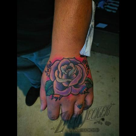 Tattoos - Traditional-ish Job Stopper Rose - 130827