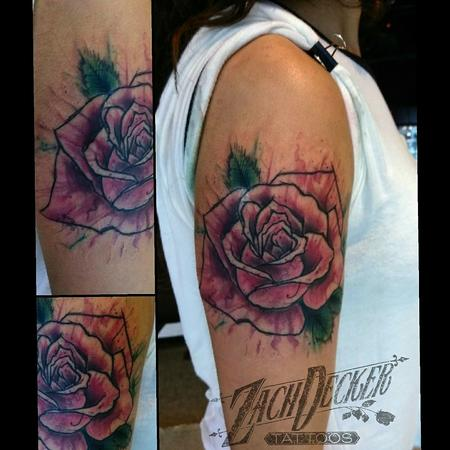 Tattoos - Watercolor Splash Rose - 131105