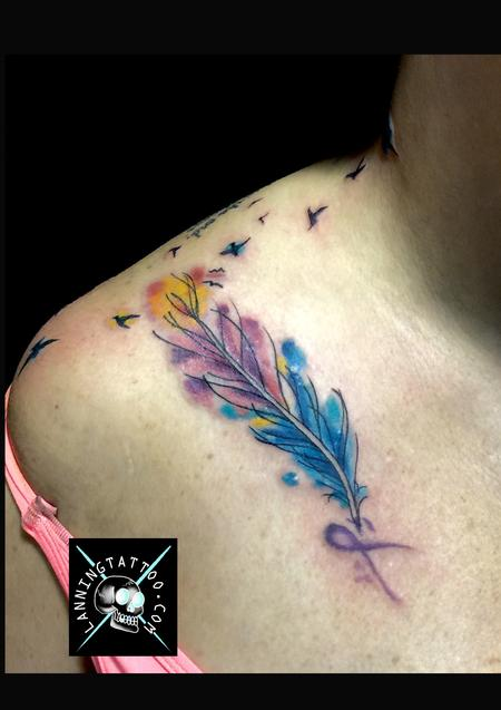 Watercolor feather Design Thumbnail