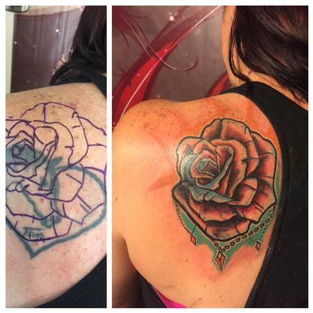 Tattoos - Rose coverup - 120087