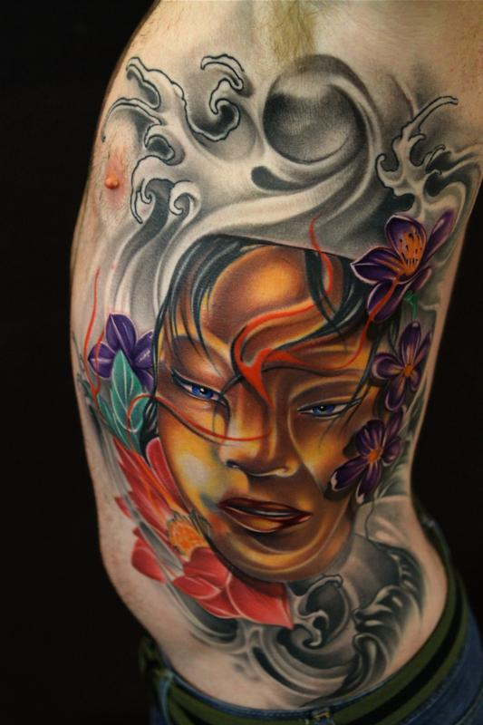 asian inspired tattoo by mike demasi tattoonow. Black Bedroom Furniture Sets. Home Design Ideas