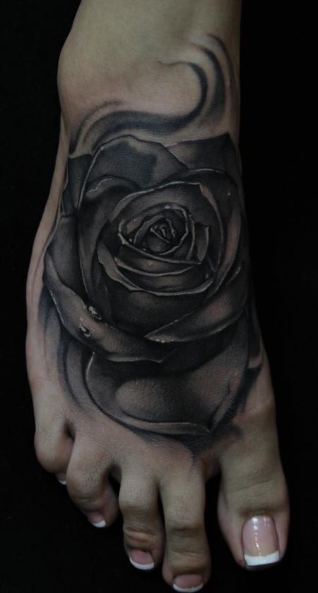 Mike Demasi - Black and Gray Rose Tattoo