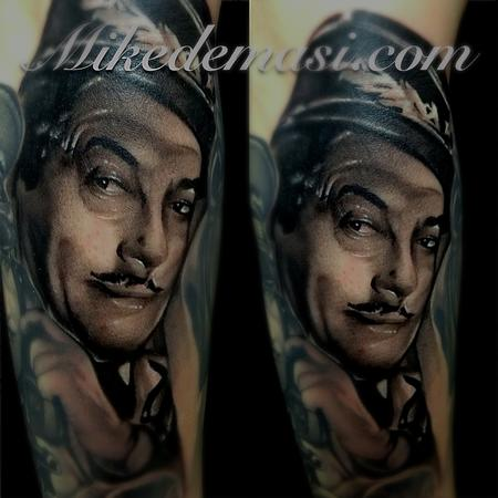 Casablanca black and gray tattoo addition  Tattoo Design Thumbnail