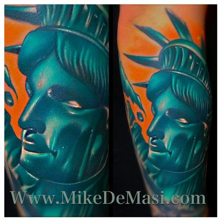 Tattoos - Statue of Liberty color tattoo  - 77870
