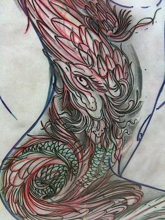 Mike Demasi - Peacock sketch for an up coming appt. next week