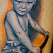 Tattoos - Portrait of Heather's kid on bike - 25731