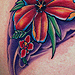 Tattoos - Flowers on ribs  - 31035