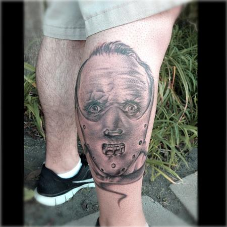 Ryan Mullins - Black and grey realitic Hannibal Lecter tattoo