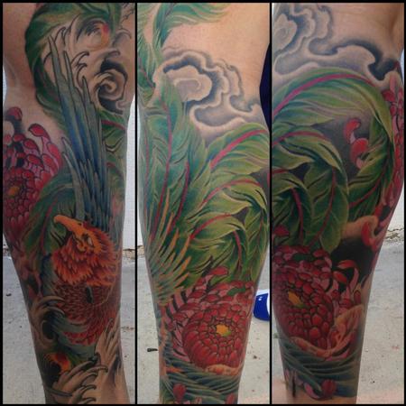 Tim Mcevoy - color pheonix tattoo, Tim McEvoy Art Junkies Tattoo