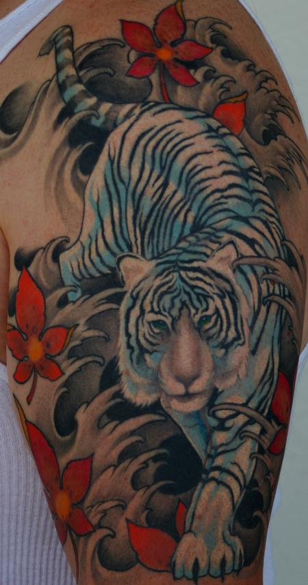 Tattoo studio tattoos traditional japanese color japanese tiger