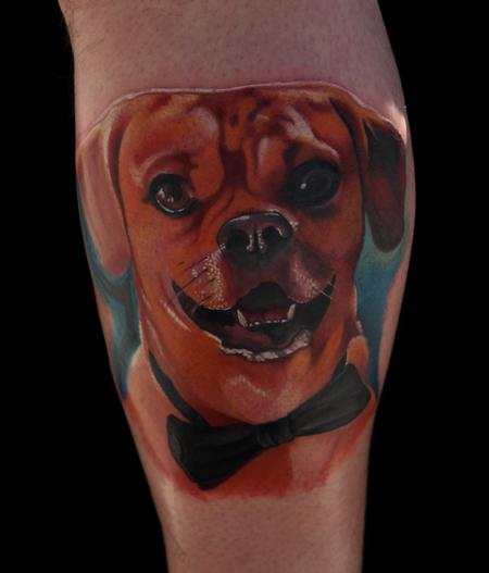 Mario Rosenau - Color Dog Portrait Tattoo