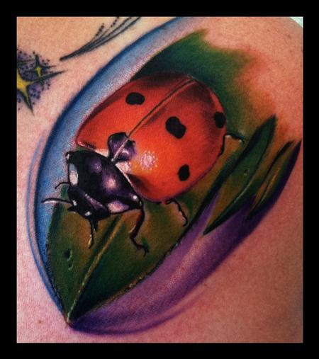 Lady Bug Color Brent Olson Art Junkies Tattoo Tattoo Design Thumbnail