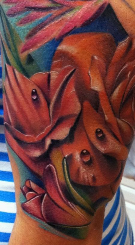 Brent Olson - Realistic Flower Brent Olson Art Junkies Tattoo