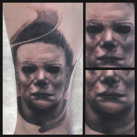 Ryan Mullins - Black and Grey Portrait of Michael Meyers