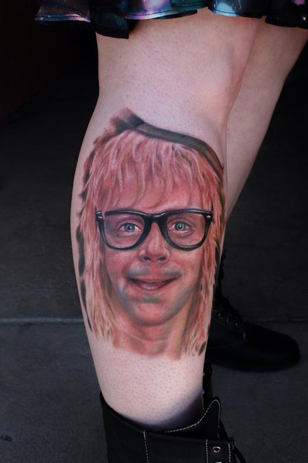 Color portrait of Garth algar Tattoo Design Thumbnail