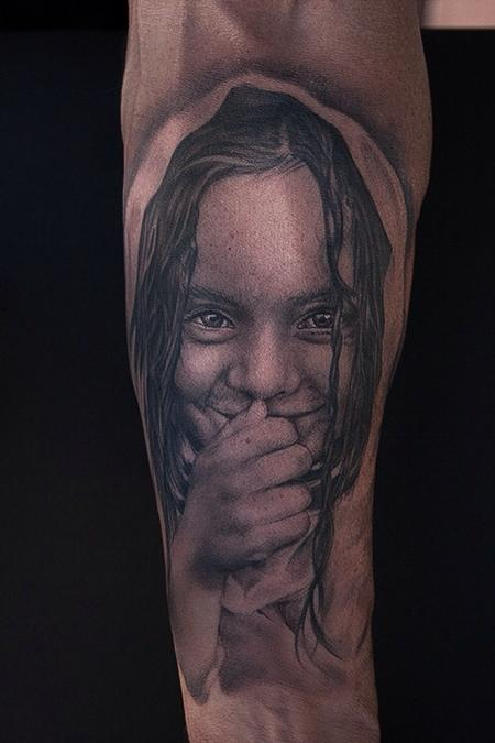 Ryan Mullins - Black and grey portrait