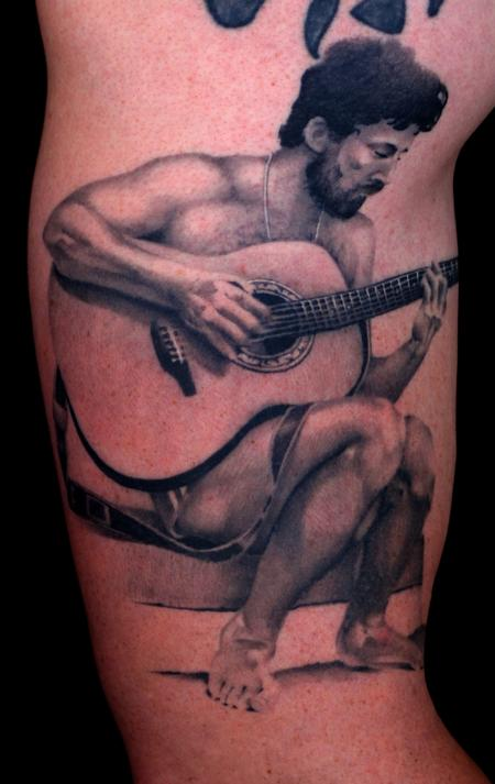 Tim Mcevoy - realistic black and gray portrait tattoo