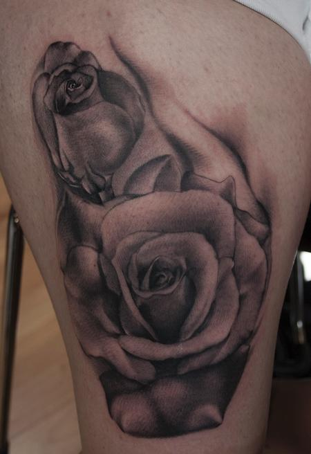 Ryan Mullins - Black and Grey Rose
