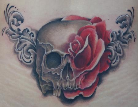 Tim Mcevoy - Skull and Rose Tattoo