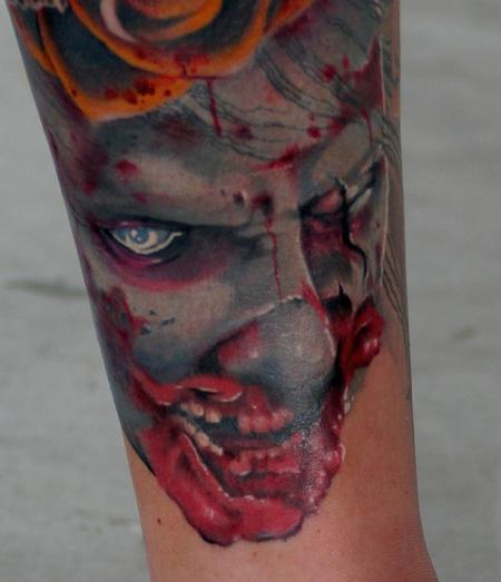Tim Mcevoy - Creepy realistic color zombie face