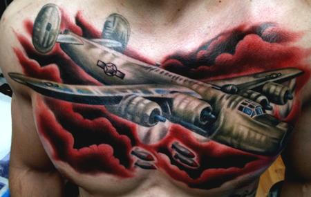 Aric Taylor The Dark Horse - Red Night Sky War Plane