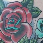 Tattoos - Traditional color roses tattoo, Gary Dunn Art Junkies Tattoo  - 106420