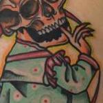 Traditional color skull clown tattoo, Mike Riedl Art Junkies Tattoo  Tattoo Design Thumbnail