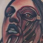 Traditional color girl with rope and spider tattoo. Gary Dunn Art Junkies Tattoo Tattoo Design Thumbnail