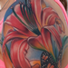 Tattoos - realistic colored flowers with butterfly tattoo, Brent Olson Art Junkies Tattoo - 76058
