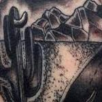Tattoos - Black and Gray traditional desert sense tattoo, Frichard Adams Art Junkies Tattoo  - 108724