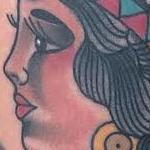 Tattoos - Traditional color indian girl tattoo, Gary Dunn Art Junkies Tattoo - 103650