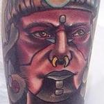 Tattoos - Traditional color Mayan Warrior Gary Dunn Art Junkies Tattoo - 100034