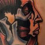 Tattoos - Traditional color human anatomy of the head tattoo, Mike Riedl Art Junkies Tattoo - 100614
