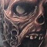 Tattoos - Realistic black and gray zombie tattoo, Scott Grosjean Art Junkies Tattoo - 99696
