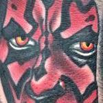 Tattoos - Traditional Darth Maul tattoo, Gary Dunn Art Junkies Tattoo - 99847