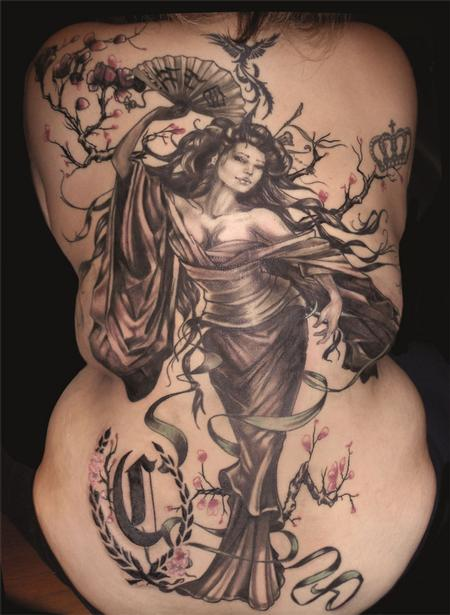 Tattoos - Geisha tattoo - 78778